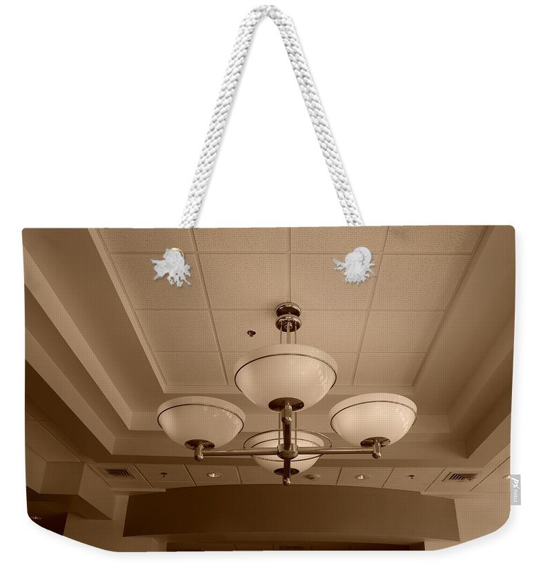 Sepia Weekender Tote Bag featuring the photograph Sepia Lights by Rob Hans