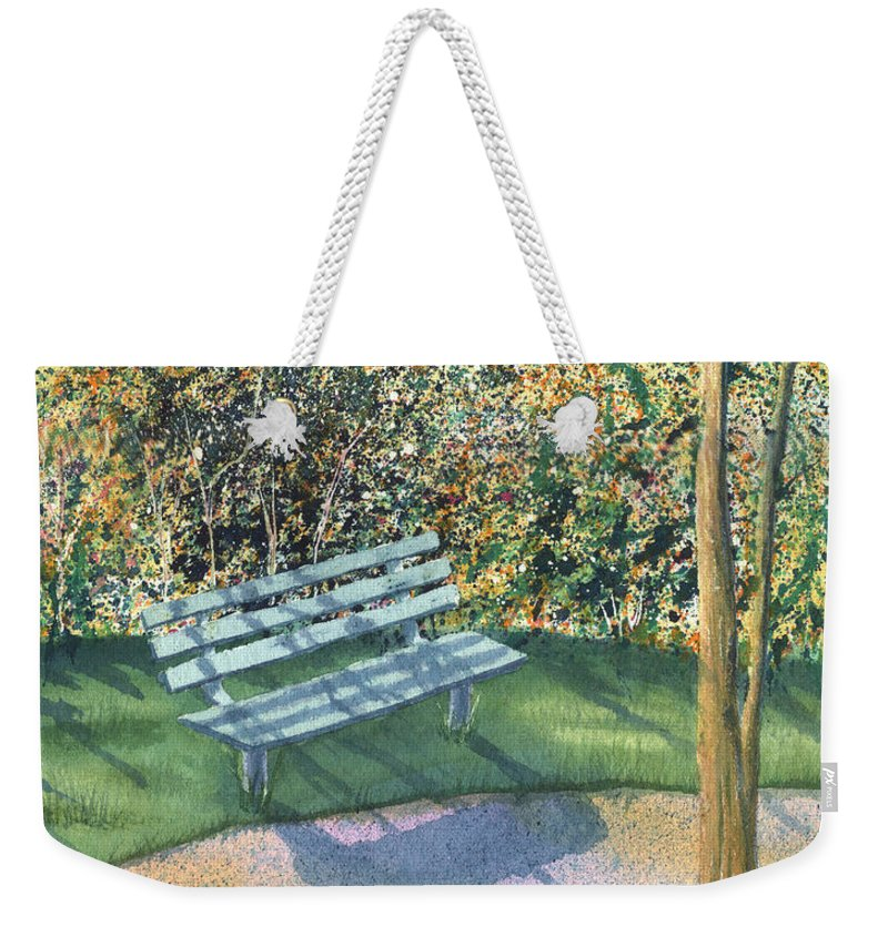 Autumn Trees Weekender Tote Bag featuring the painting September Afternoon by Lynn Quinn
