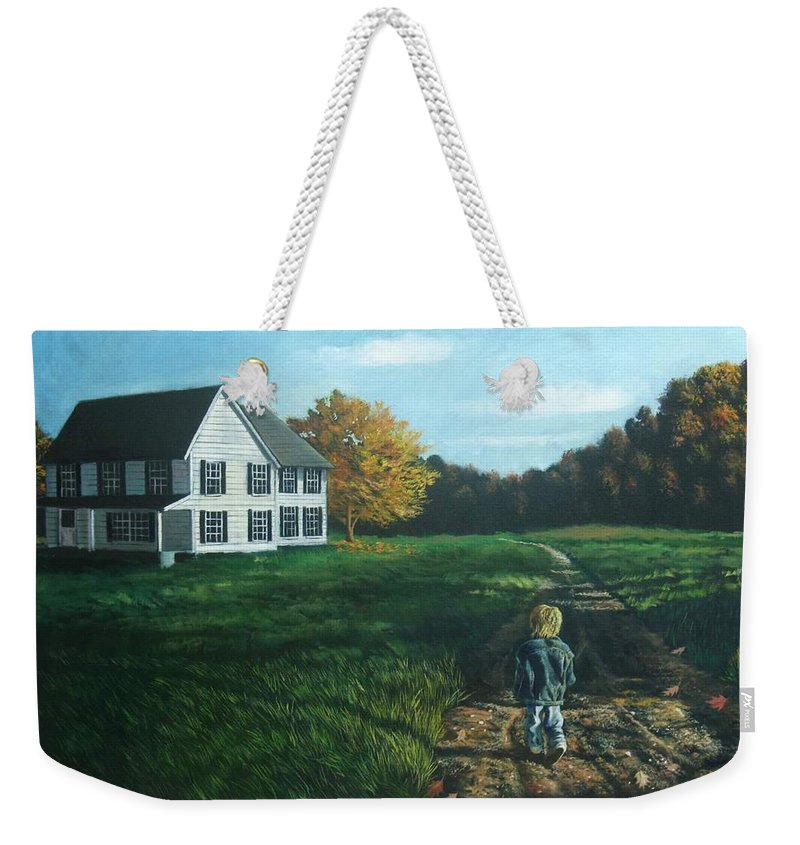 Pennsylvania Weekender Tote Bag featuring the painting September Breeze Number 4 by Christopher Shellhammer
