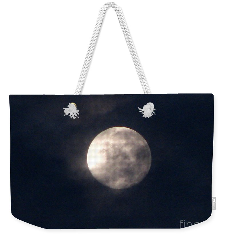 September Moon Weekender Tote Bag featuring the photograph September Moon by Greg Patzer