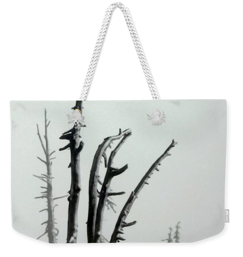 Snags Weekender Tote Bag featuring the photograph September Snow by Albert Seger