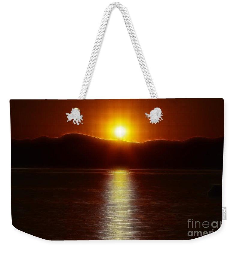Sunset Weekender Tote Bag featuring the photograph September Sunset by Deborah Benoit