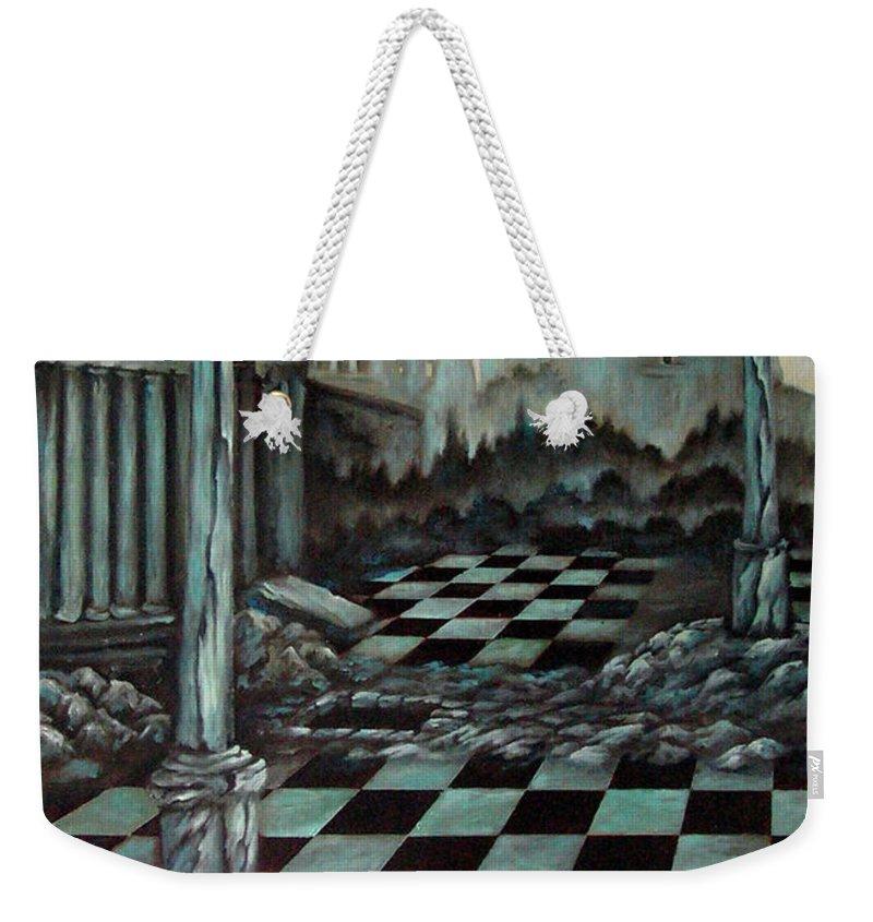 Surreal Weekender Tote Bag featuring the painting Sepulchre by Valerie Vescovi