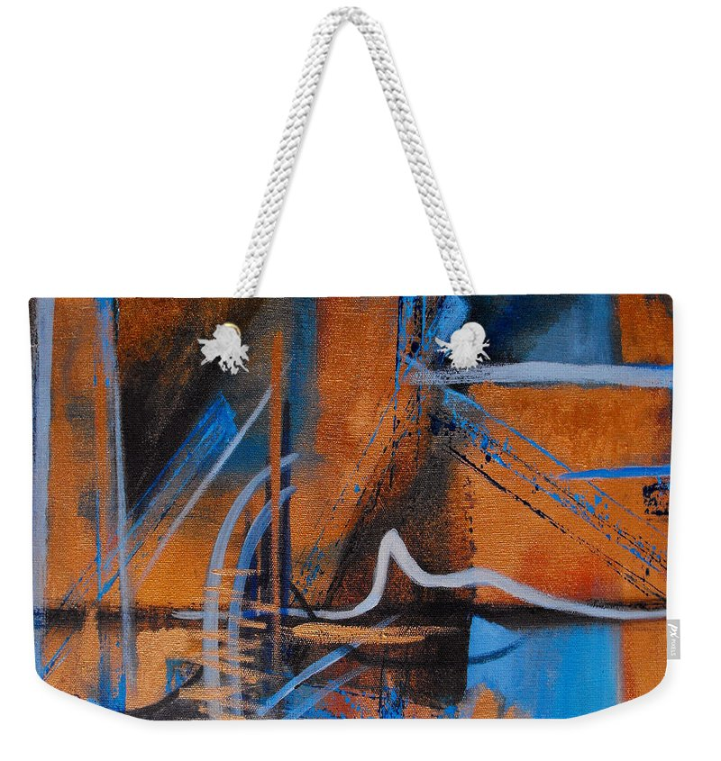 Abstract Weekender Tote Bag featuring the painting Sequence Of Events by Ruth Palmer