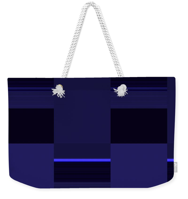 Abstract Weekender Tote Bag featuring the digital art Sequential by Candice Danielle Hughes