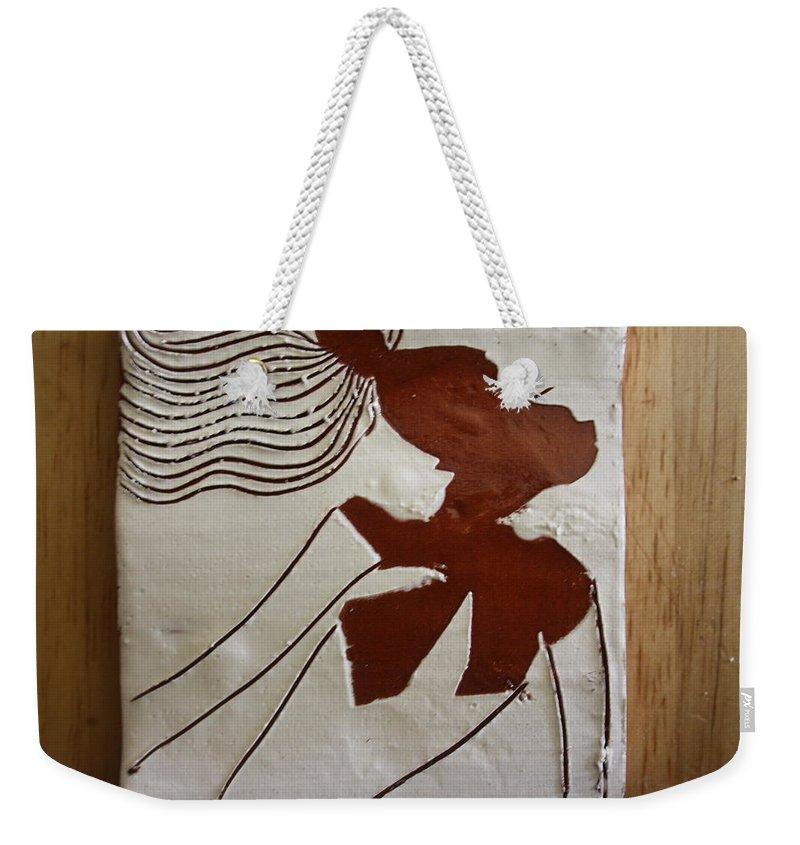 Jesus Weekender Tote Bag featuring the ceramic art Serena - Tile by Gloria Ssali