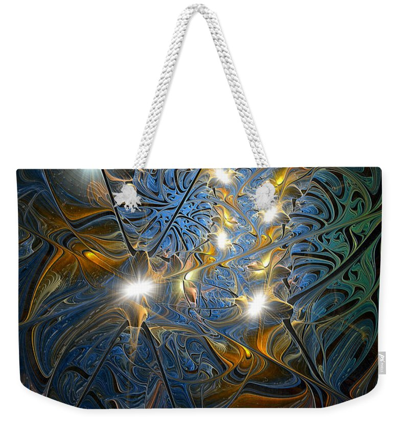 Abstract Weekender Tote Bag featuring the digital art Serendipitous Trope by Casey Kotas
