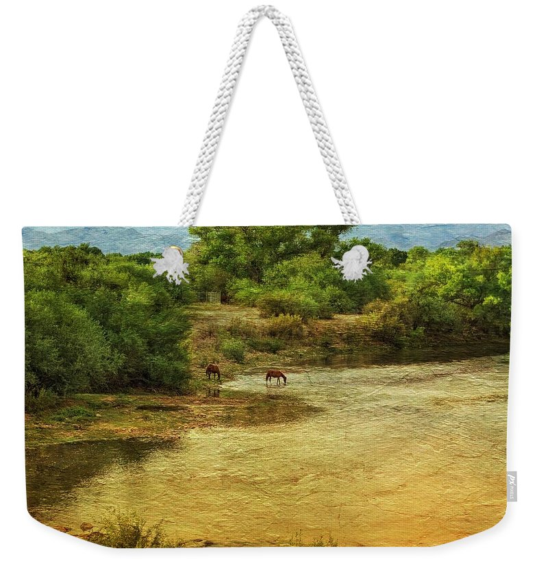 Serendipity Weekender Tote Bag featuring the photograph Serendipity by Barbara Zahno