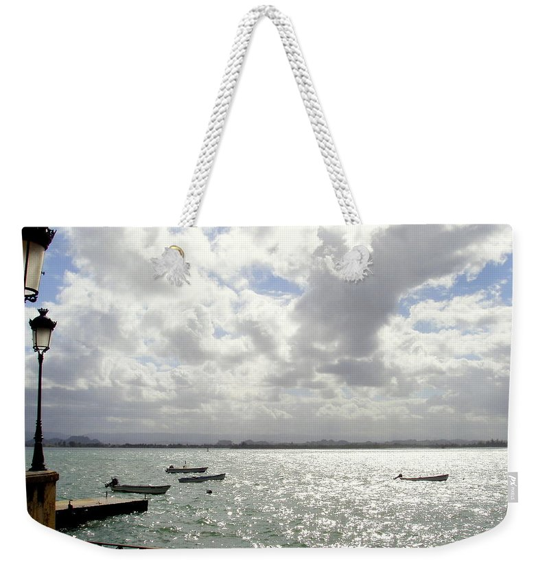 Seaside Weekender Tote Bag featuring the photograph Serene by Deborah Crew-Johnson