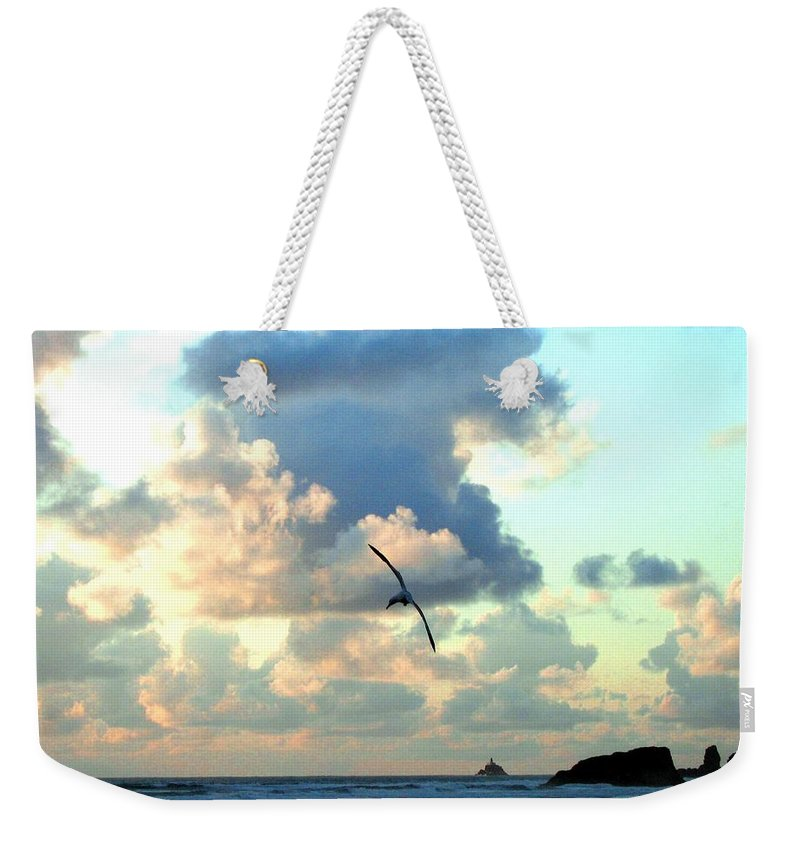 Sunset Weekender Tote Bag featuring the photograph Serene Sunset by Will Borden