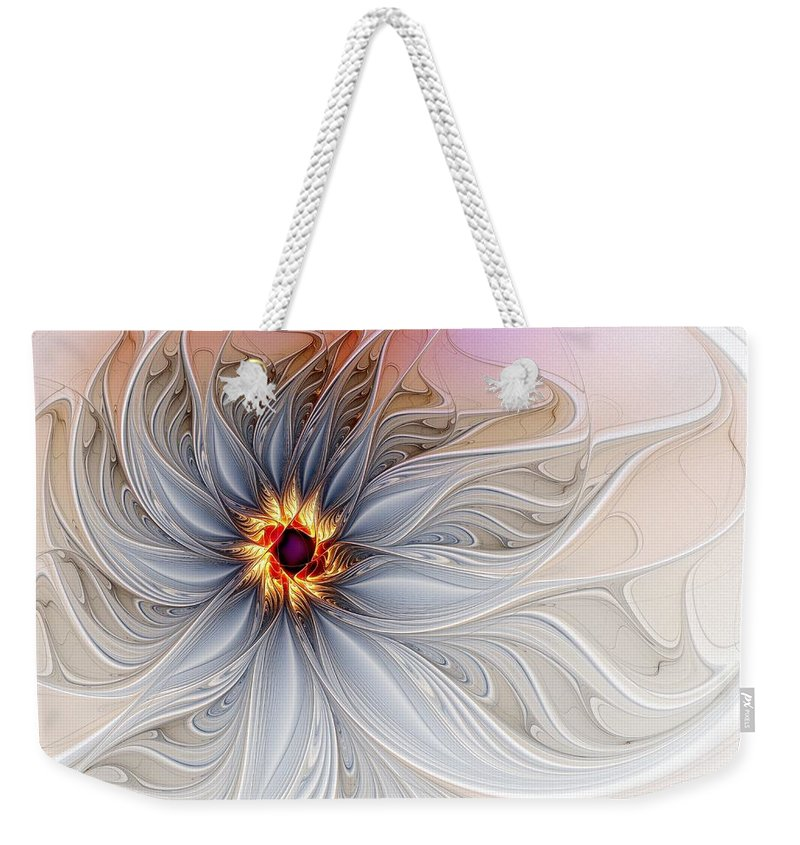 Digital Art Weekender Tote Bag featuring the digital art Serenely Blue by Amanda Moore