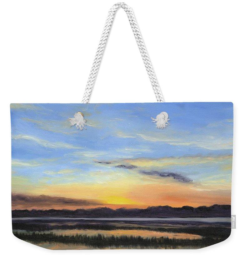 Marsh Paintings Weekender Tote Bag featuring the painting Serenity by Deborah Butts