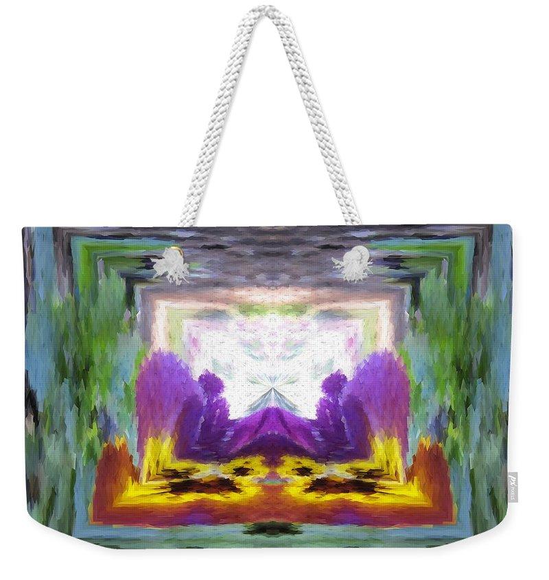 Serenity Weekender Tote Bag featuring the digital art Serenity Gateway by Tim Allen