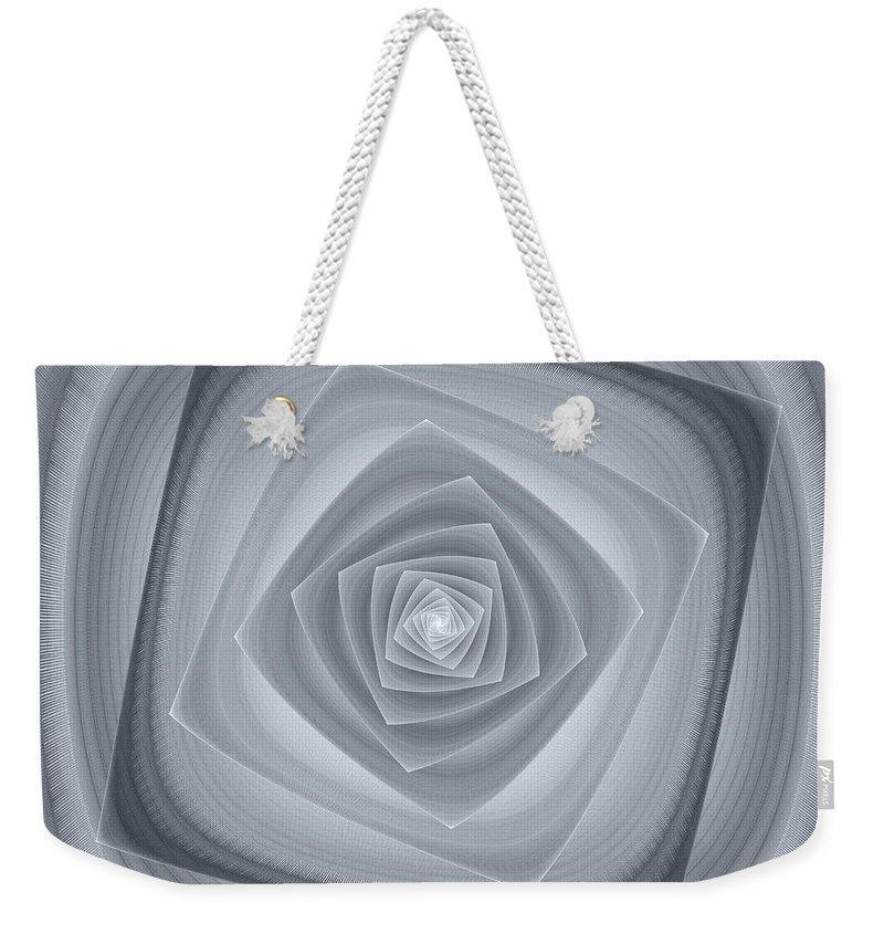 Abstract Weekender Tote Bag featuring the digital art Serenity by Georgiana Romanovna