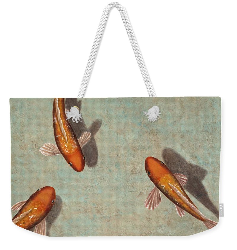 Animals Weekender Tote Bag featuring the painting Serenity by Kimberly Fox