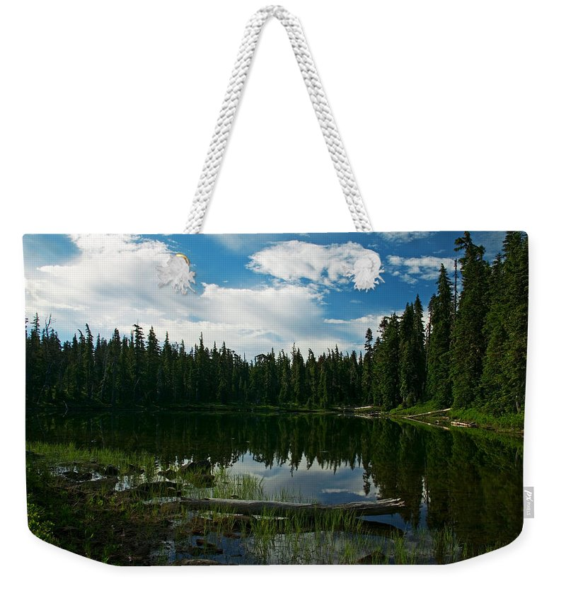 Lake Weekender Tote Bag featuring the photograph Serenity by Randall Ingalls