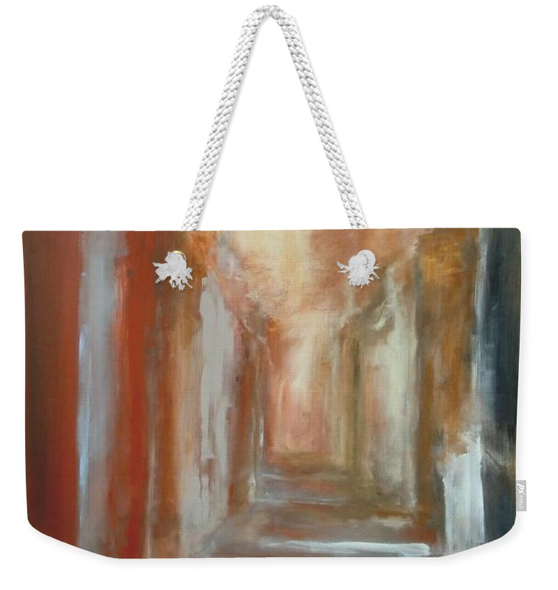 Abstract Weekender Tote Bag featuring the painting Serenity by Rome Matikonyte