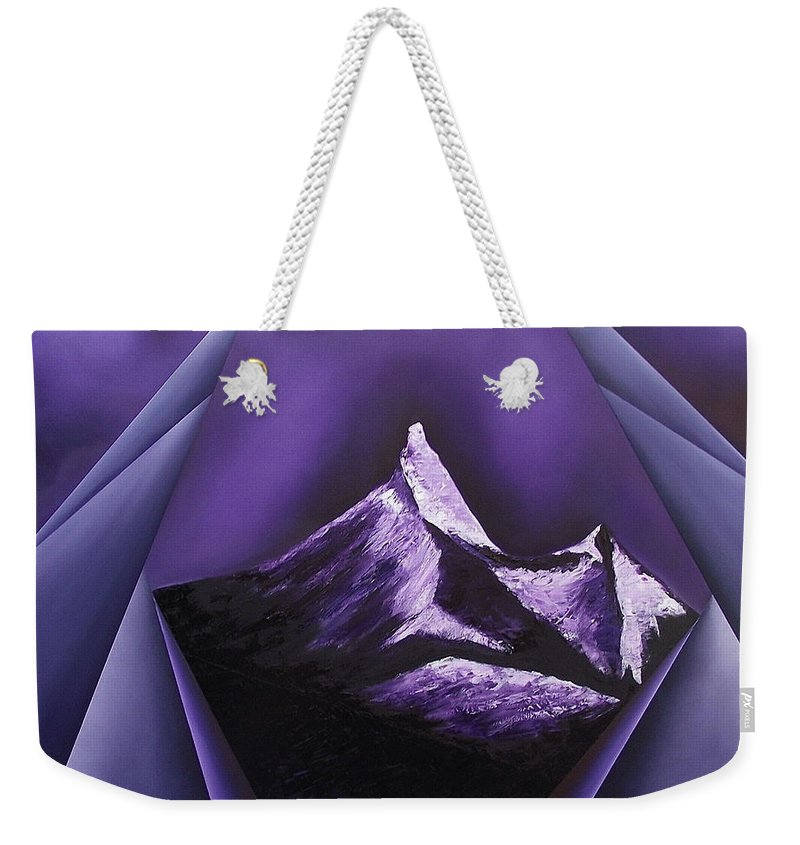 Weekender Tote Bag featuring the painting Serenity with silent partner by Ara Elena