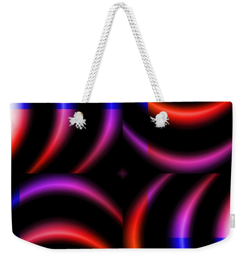Art Weekender Tote Bag featuring the digital art Series by Candice Danielle Hughes