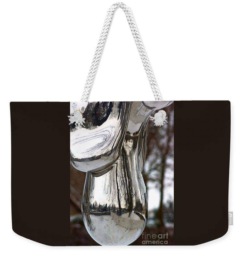 Globe Snow Weekender Tote Bag featuring the photograph Globe Snow # 2. by Alexander Vinogradov