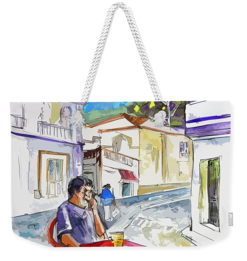 Portugal Paintings Weekender Tote Bag featuring the painting Serpa Portugal 05 Bis by Miki De Goodaboom