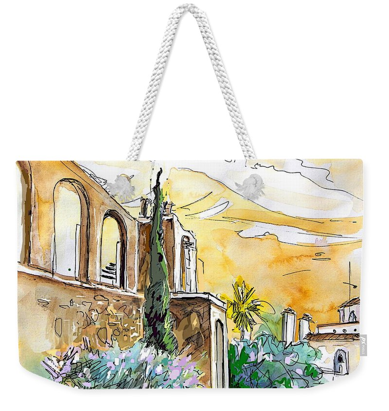 Portugal Paintings Weekender Tote Bag featuring the painting Serpa Portugal 10 by Miki De Goodaboom