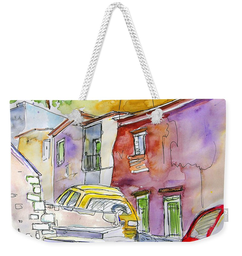 Portugal Paintings Weekender Tote Bag featuring the painting Serpa Portugal 12 by Miki De Goodaboom