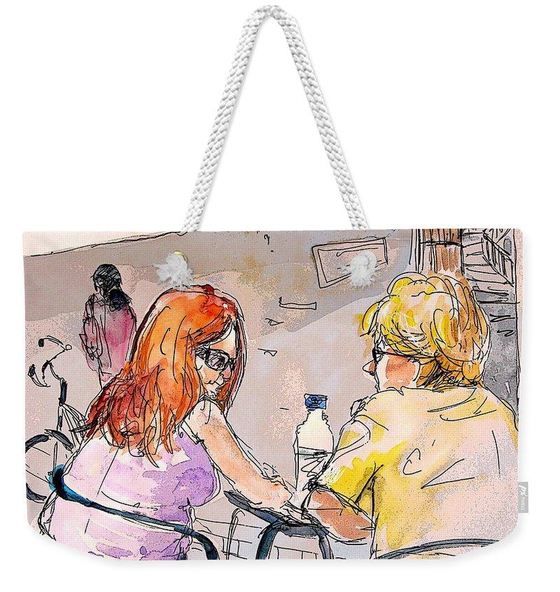 Portugal Paintings Weekender Tote Bag featuring the painting Serpa Portugal 15 by Miki De Goodaboom