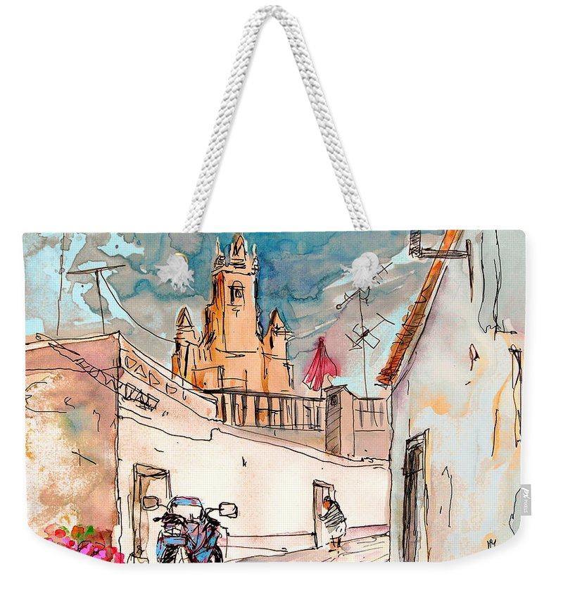 Portugal Paintings Weekender Tote Bag featuring the painting Serpa Portugal 22 by Miki De Goodaboom