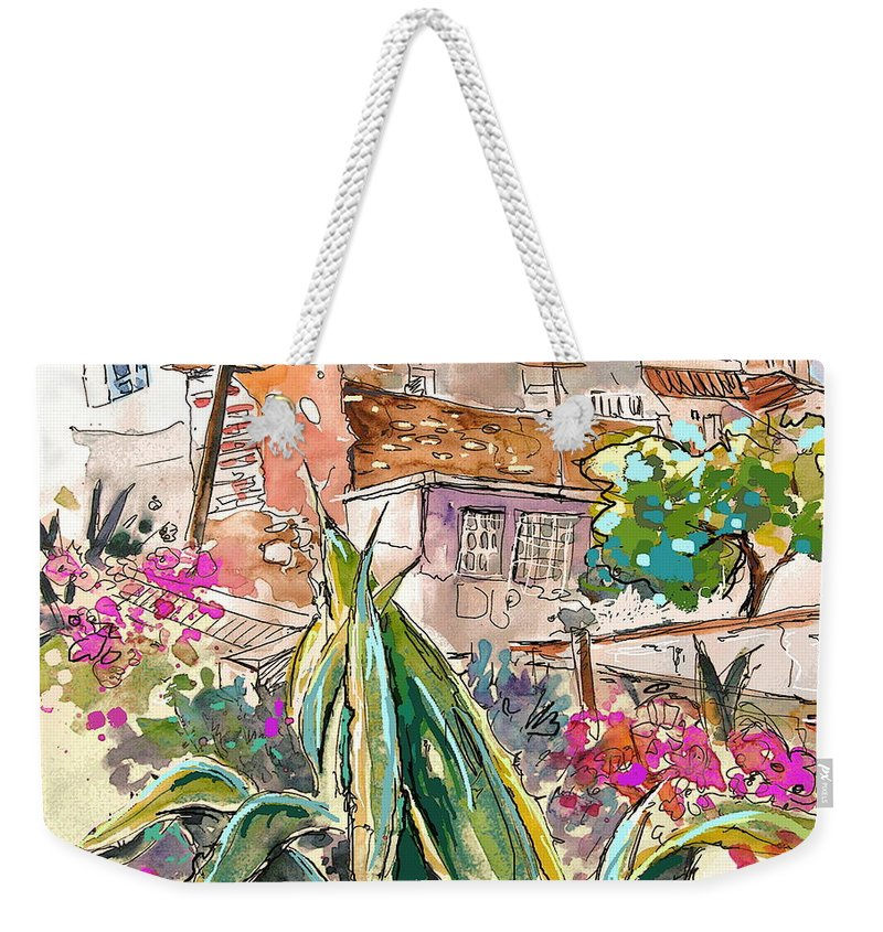 Portugal Paintings Weekender Tote Bag featuring the painting Serpa Portugal 24 by Miki De Goodaboom