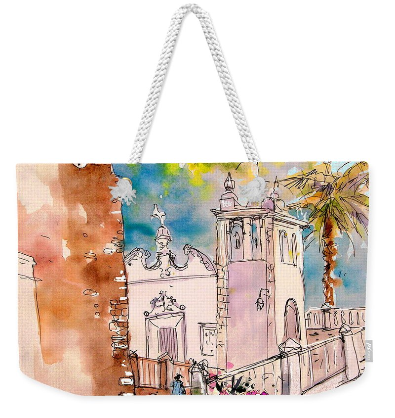 Water Colour Painting Serpa Portugal Weekender Tote Bag featuring the painting Serpa Portugal 31 by Miki De Goodaboom