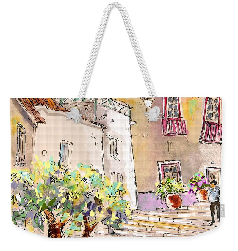 Portugal Paintings Weekender Tote Bag featuring the painting Serpa Portugal 36 by Miki De Goodaboom