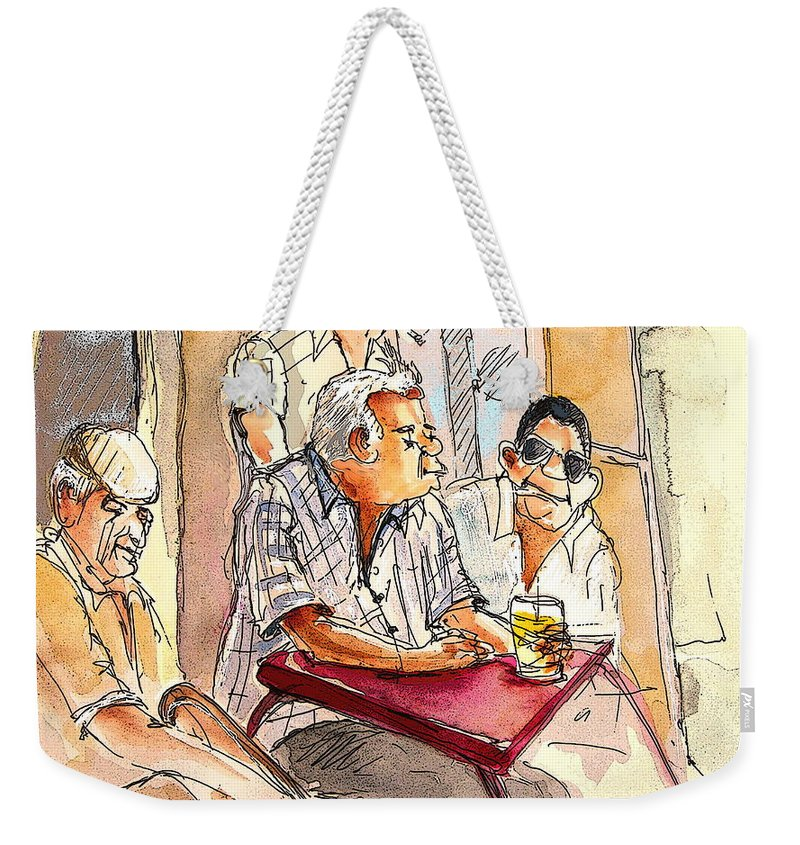 Portugal Paintings Weekender Tote Bag featuring the painting Serpa Portugal 37 by Miki De Goodaboom
