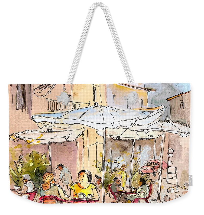 Weekender Tote Bag featuring the painting Serpa Portugal 39 by Miki De Goodaboom