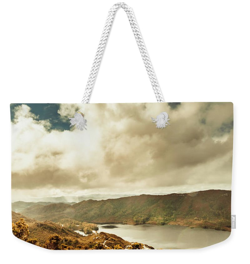 Serpentine Dam Weekender Tote Bag featuring the photograph Serpentine Dam Tasmania by Jorgo Photography - Wall Art Gallery