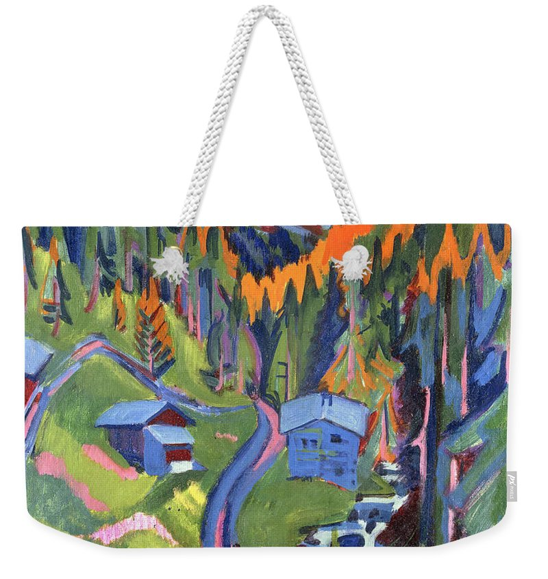 Kirchner Weekender Tote Bag featuring the painting Sertig Path In Summer by Ernst Ludwig Kirchner