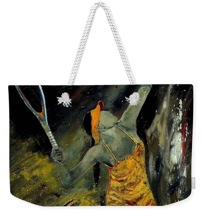 Sports Weekender Tote Bag featuring the painting Service by Pol Ledent