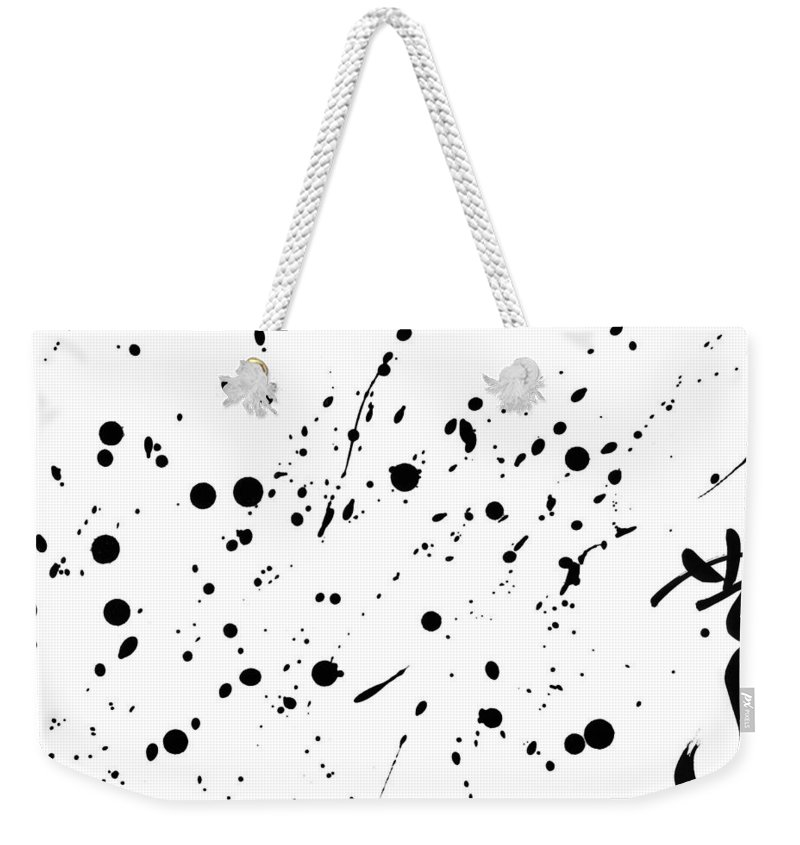 Calligraphy Weekender Tote Bag featuring the painting Set Free by Blue M