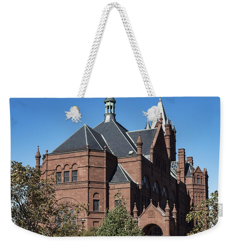 Archimedes Russell In The Romanesque Revival Style Weekender Tote Bag featuring the photograph Setnor School Of Music by John Greim