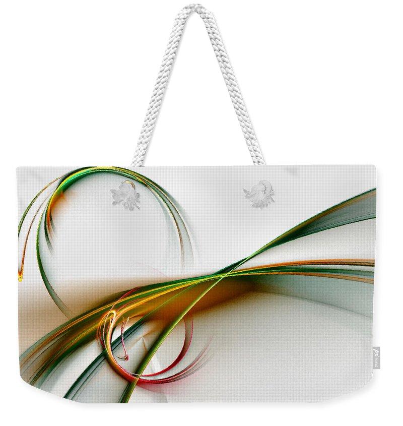 Abstract Weekender Tote Bag featuring the digital art Seven Dreams - Fractal Art by NirvanaBlues