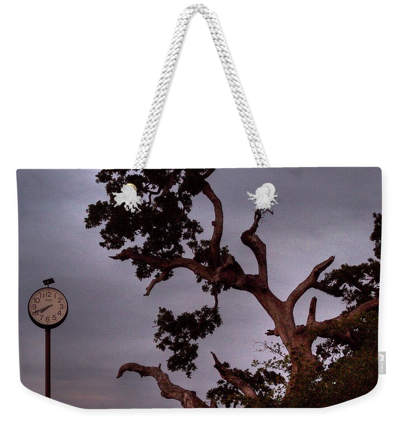 Tree Weekender Tote Bag featuring the photograph Seven Forty Pm by Paulette B Wright