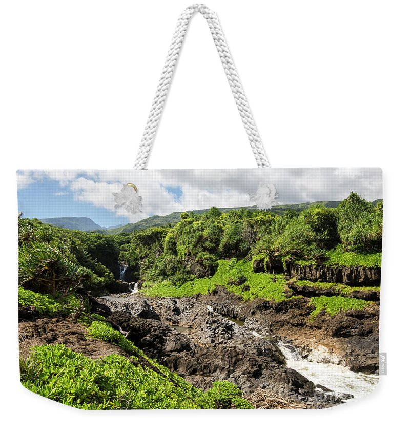 Seven Sacred Pools Weekender Tote Bag featuring the photograph Seven Sacred Pools Ohe'o Mau by Keith Ducker