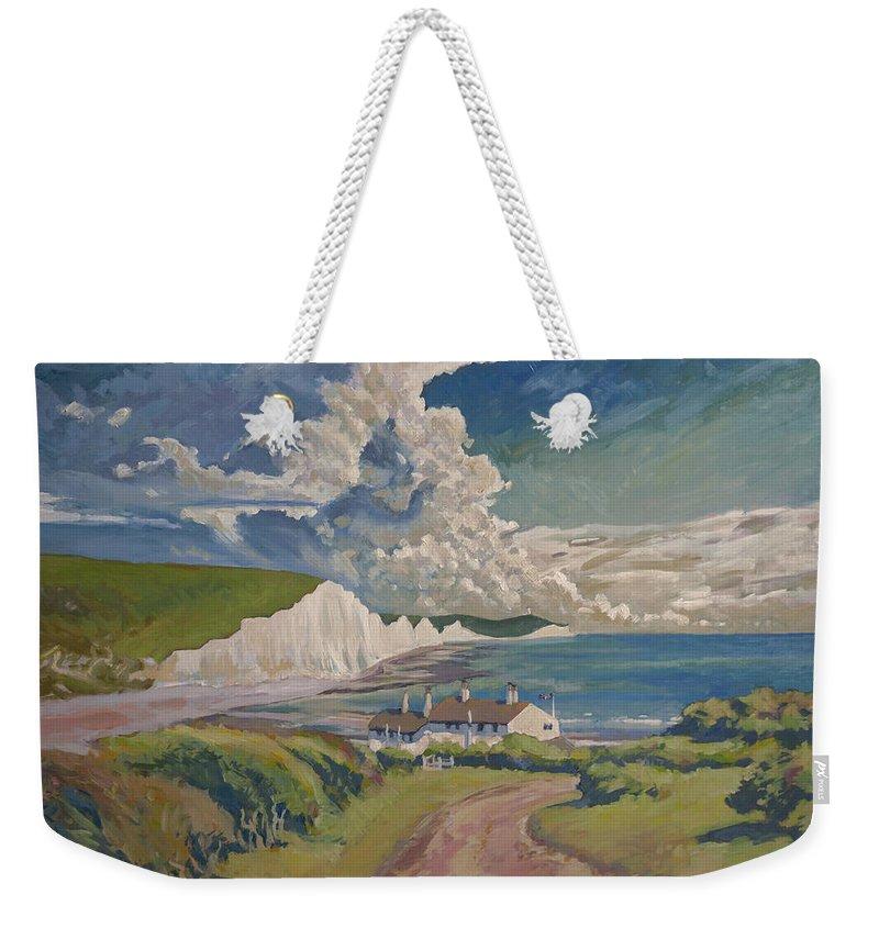 Seven Sisters Weekender Tote Bag featuring the painting Seven Sisters by Nop Briex