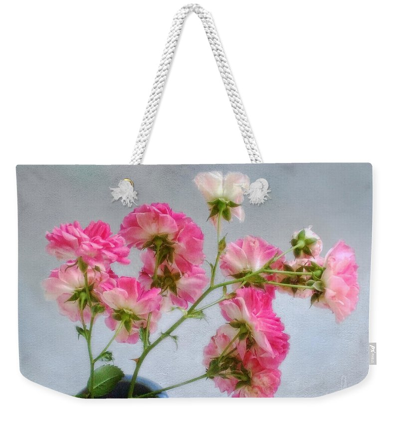 Roses Weekender Tote Bag featuring the photograph Seven Sisters Roses by Louise Kumpf
