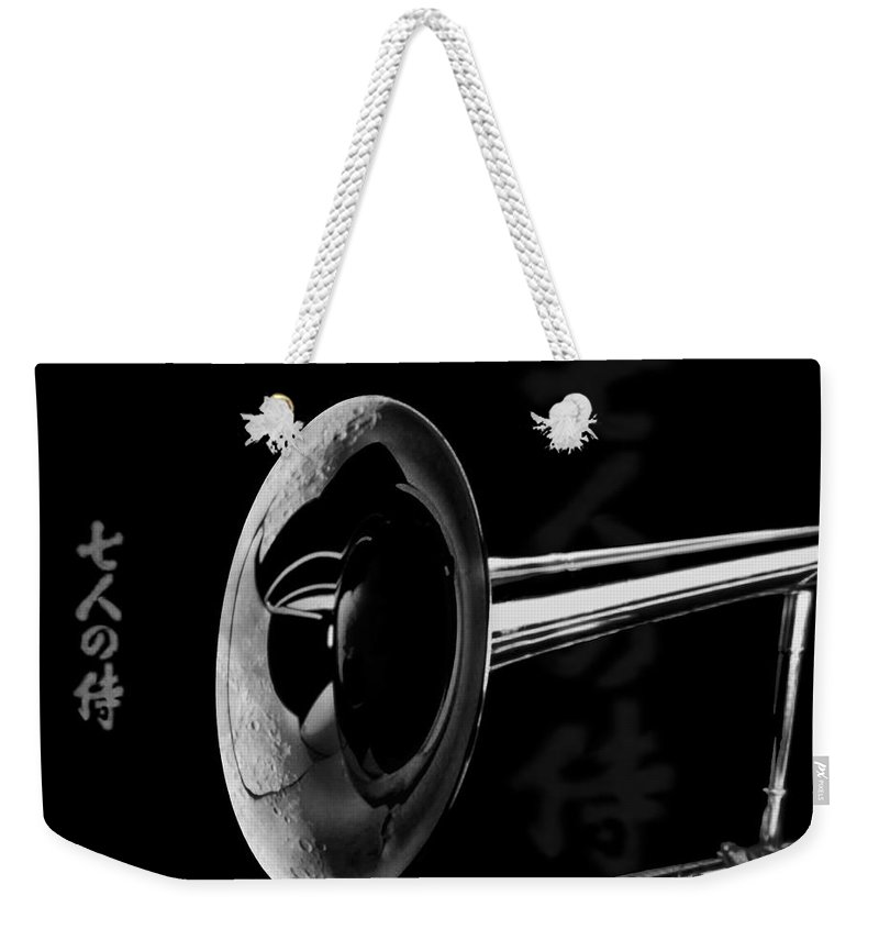 Jazz Weekender Tote Bag featuring the digital art Seventh Moon by Ken Walker