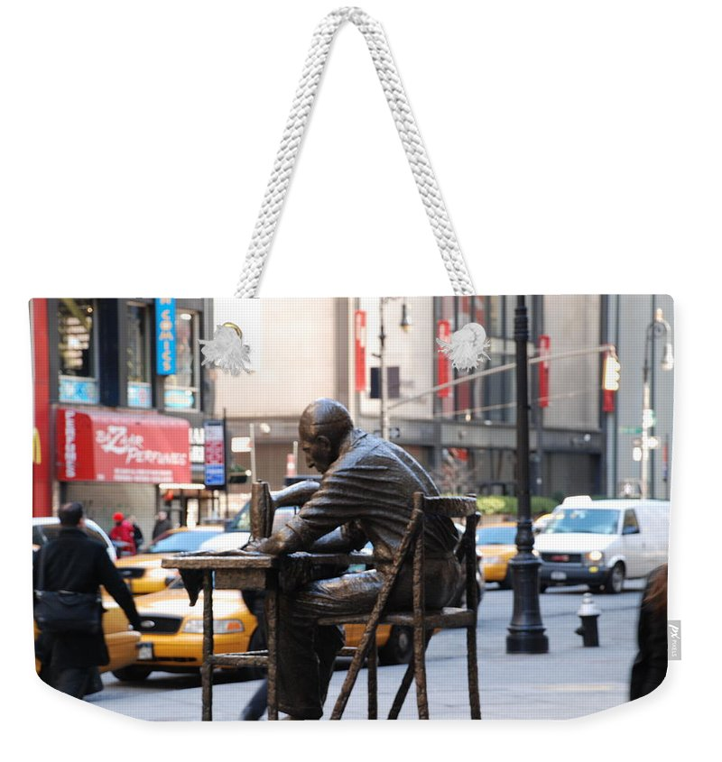 Sewing Machime Weekender Tote Bag featuring the photograph Sewing Sculpture by Rob Hans