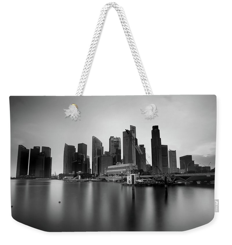 Weekender Tote Bag featuring the photograph SG by 777aan