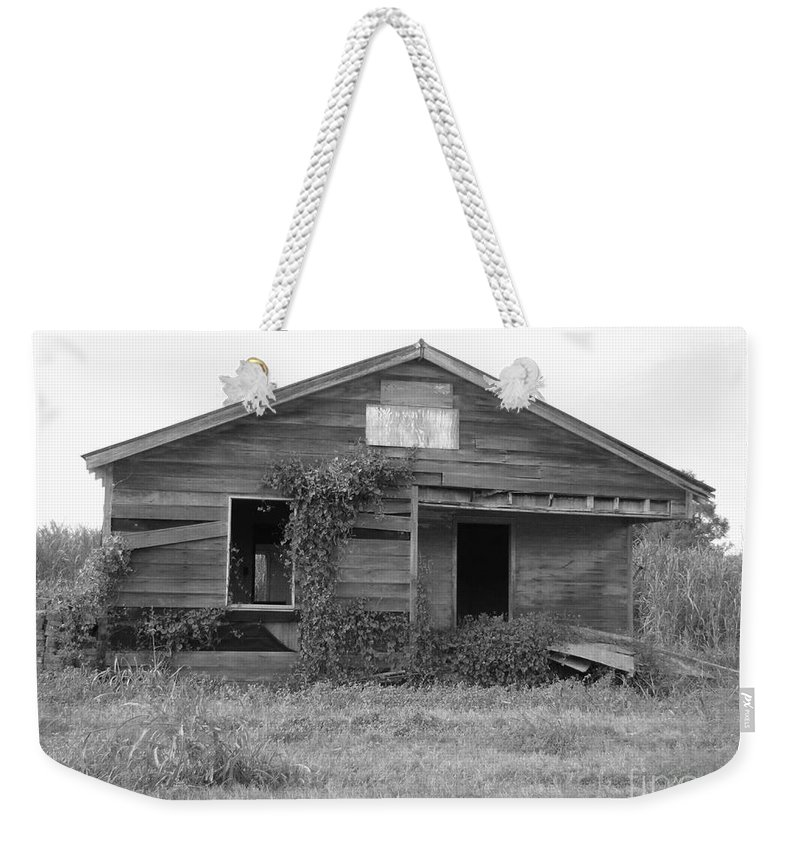 Black And White Weekender Tote Bag featuring the photograph Shack Barn by Michelle Powell
