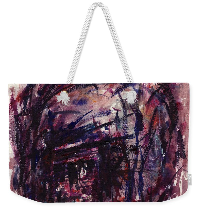 Shack Weekender Tote Bag featuring the painting Shack Third Movement by Rachel Christine Nowicki