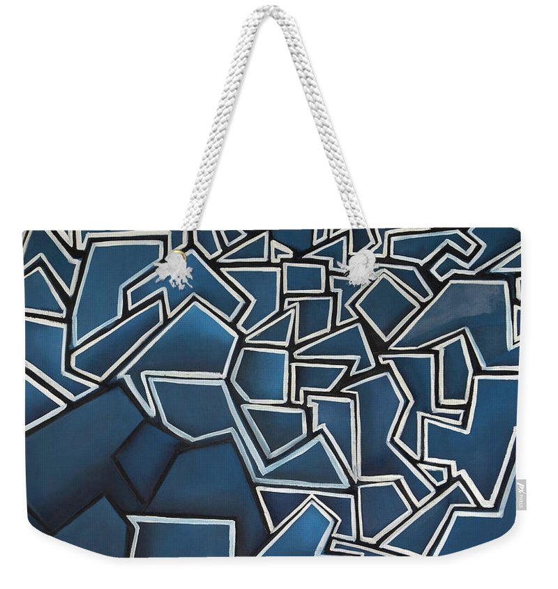 Abstract Weekender Tote Bag featuring the painting Shadderd Space by Thomas Valentine